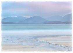 Dawn. In soft shades. Harris. Scotland