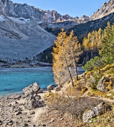 Lake Sorapiss Dolomites Italy