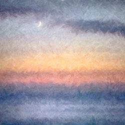 Impressions. Moon at dawn